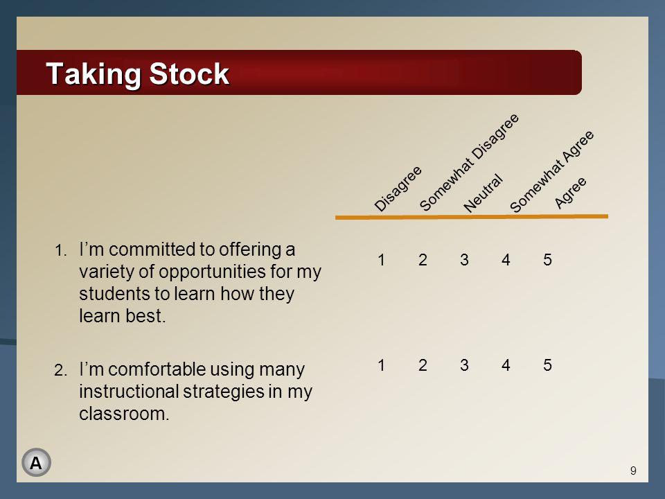 Taking Stock 1.