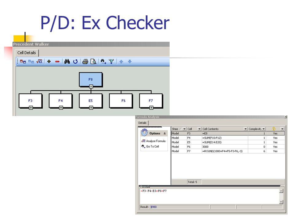 P/D: Ex Checker