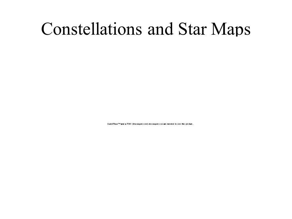 Constellations 88 Official Constellations –Examples: Ursa Major, Taurus,...