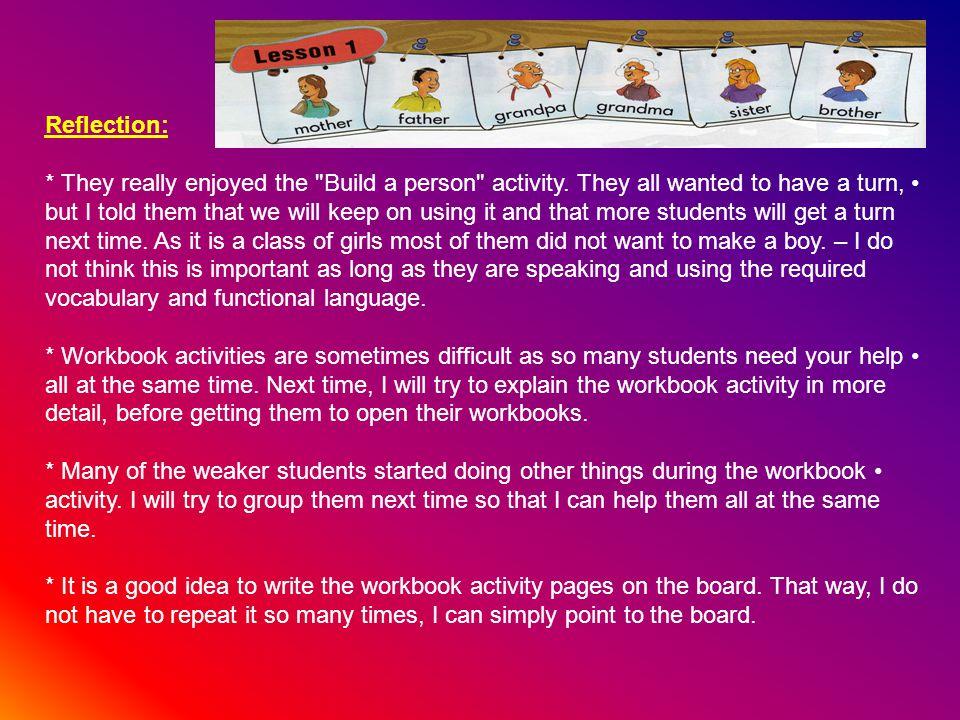 Homework: Complete workbook activities not completed in class.