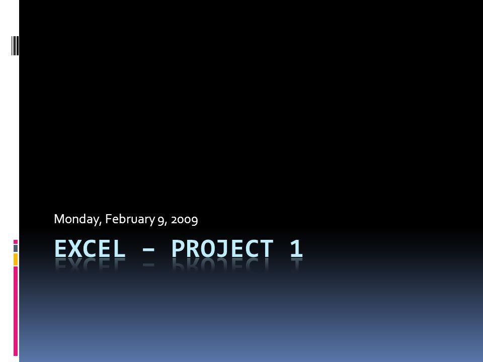 Monday, February 9, 2009