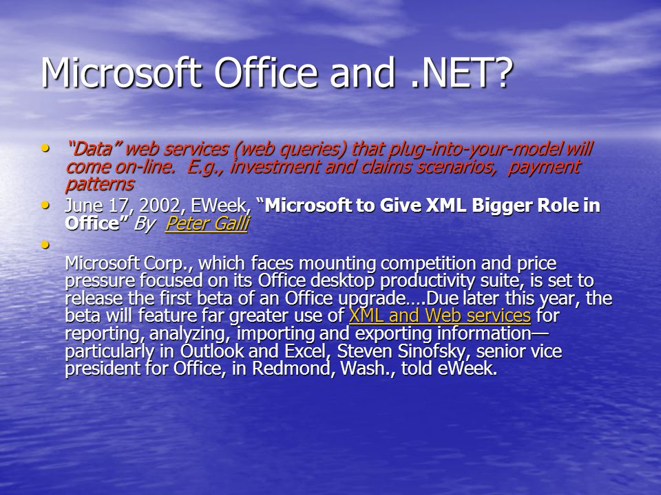 Microsoft Office and.NET.