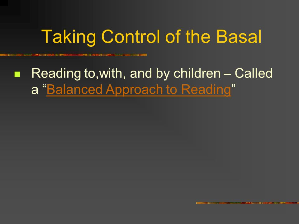 Guidelines for Evaluating Basal Readers Selection of basals should not be the same as the selection of the reading curriculum Reviewers should be the