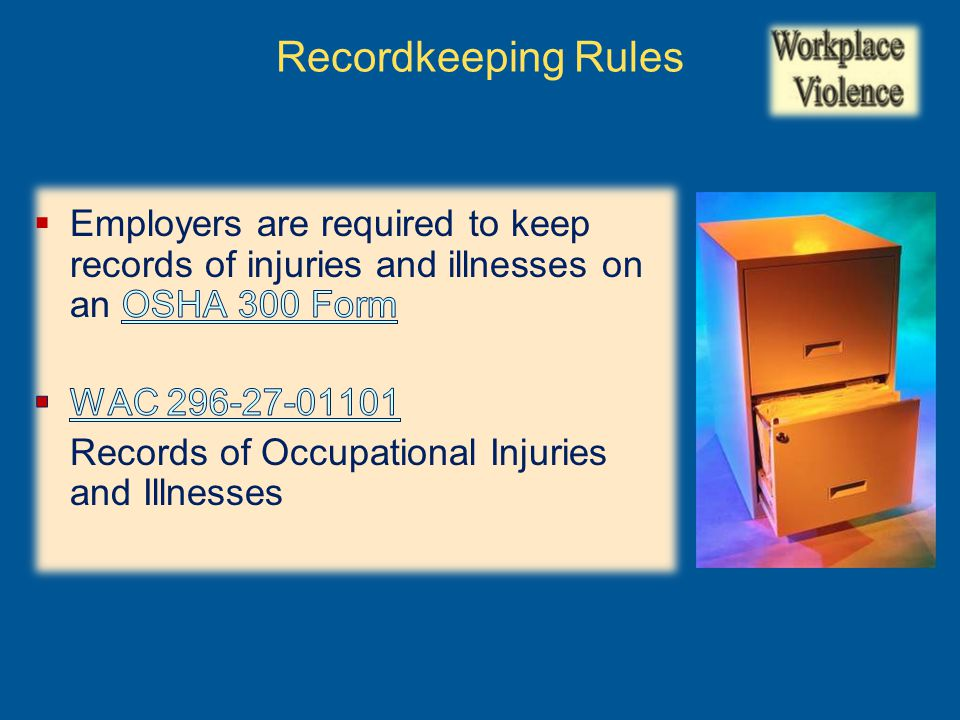 Recordkeeping Rules