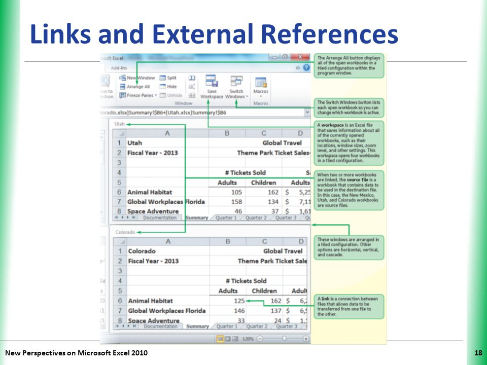 XP New Perspectives on Microsoft Excel 201018 Links and External References
