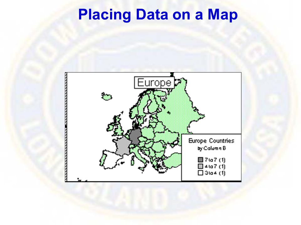 Placing Data on a Map