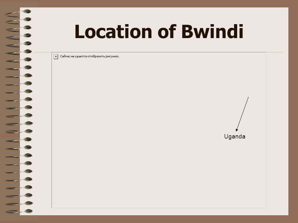 Location of Bwindi Uganda