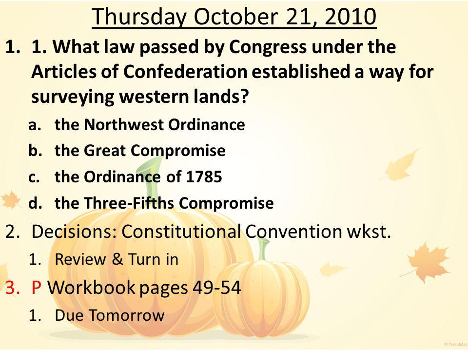Thursday October 21, 2010 1.1.