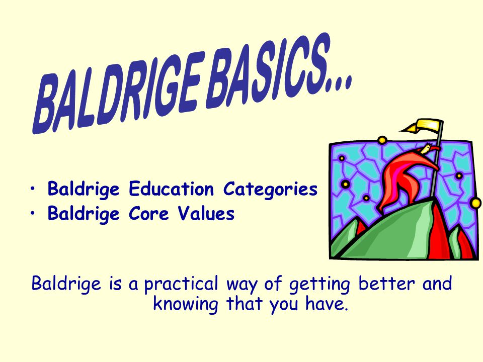 Baldrige is Based on a Systems Perspective What exactly is a system.