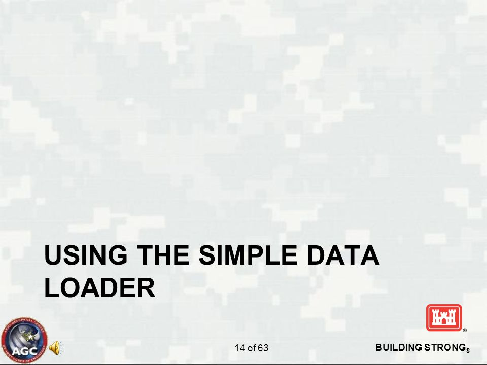 BUILDING STRONG ® USING THE SIMPLE DATA LOADER 14 of 63