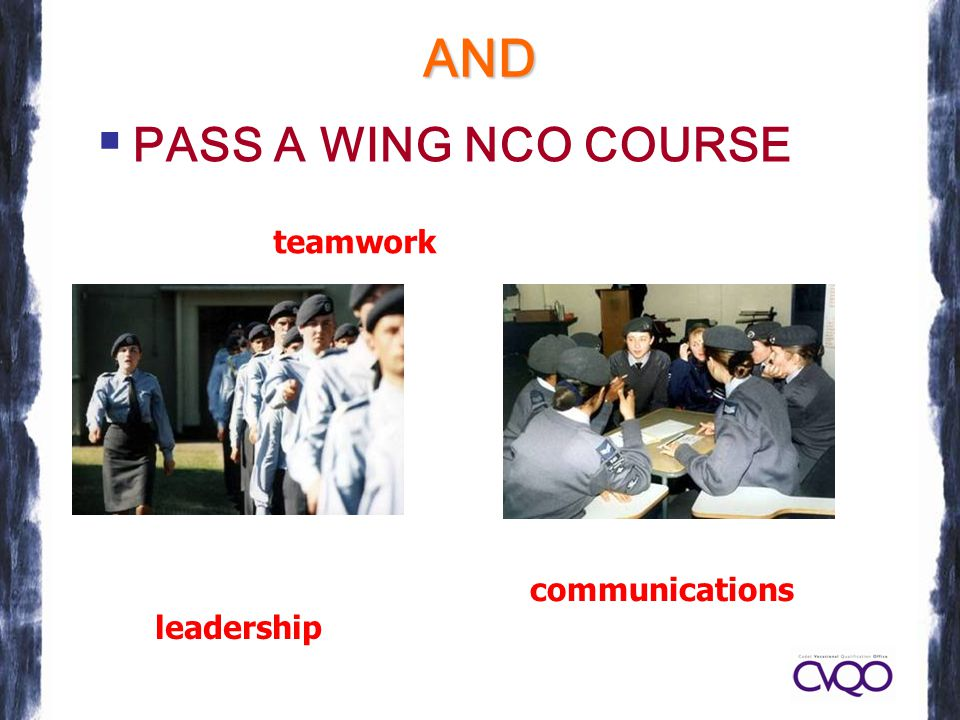 AND PPASS A WING NCO COURSE communications leadership teamwork