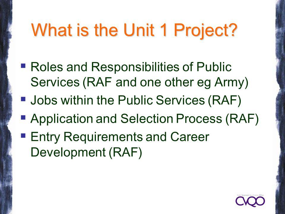What is the Unit 1 Project.
