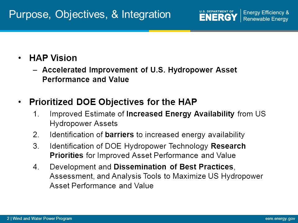 13   Wind and Water Power Programeere.energy.gov Accomplishments and Results FINDINGS: Improved hydraulic design and aeration through the turbine runner may provide significant efficiency improvements.