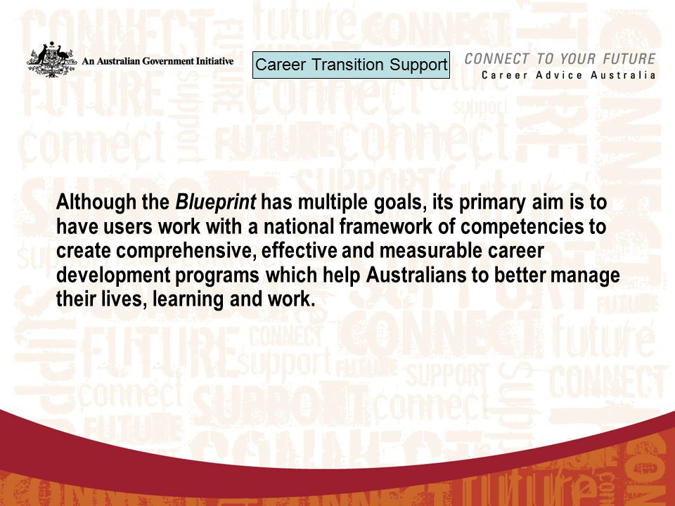 Australian blueprint for career development the blueprint career although the blueprint has multiple goals its primary aim is to have users work with malvernweather