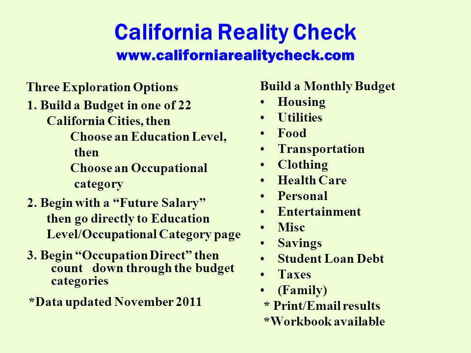 California Reality Check www.californiarealitycheck.com 3.