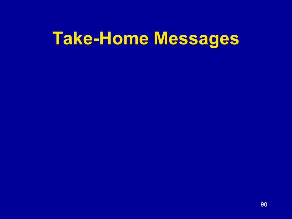 90 Take-Home Messages