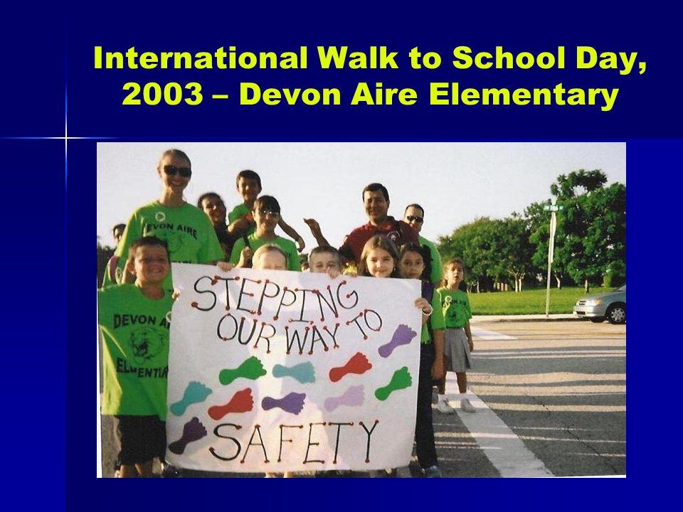 International Walk to School Day, 2003 – Devon Aire Elementary