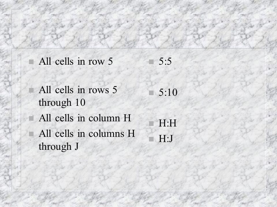 n You can also use a reference style where both the rows and the columns on the worksheet are numbered--R1C1 style.