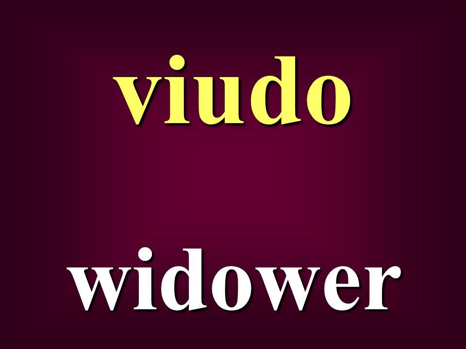 widower viudo