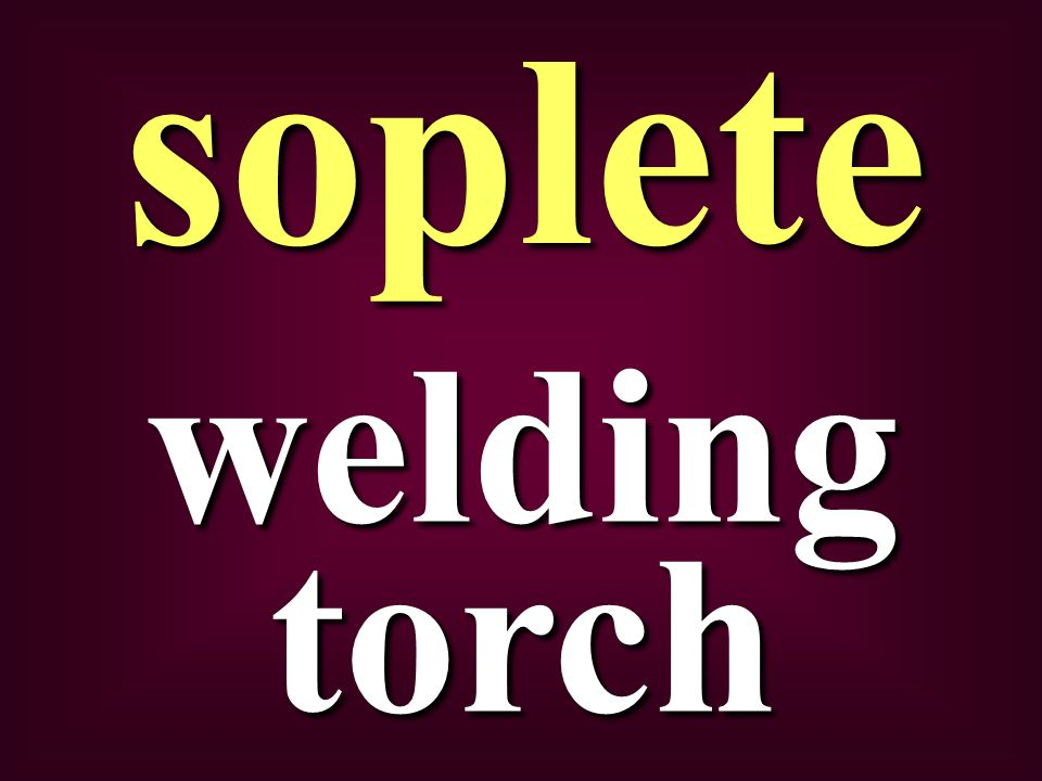 welding torch soplete