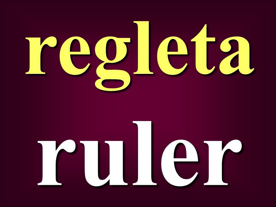 ruler regleta