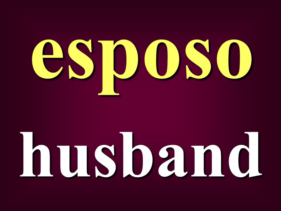 husband esposo