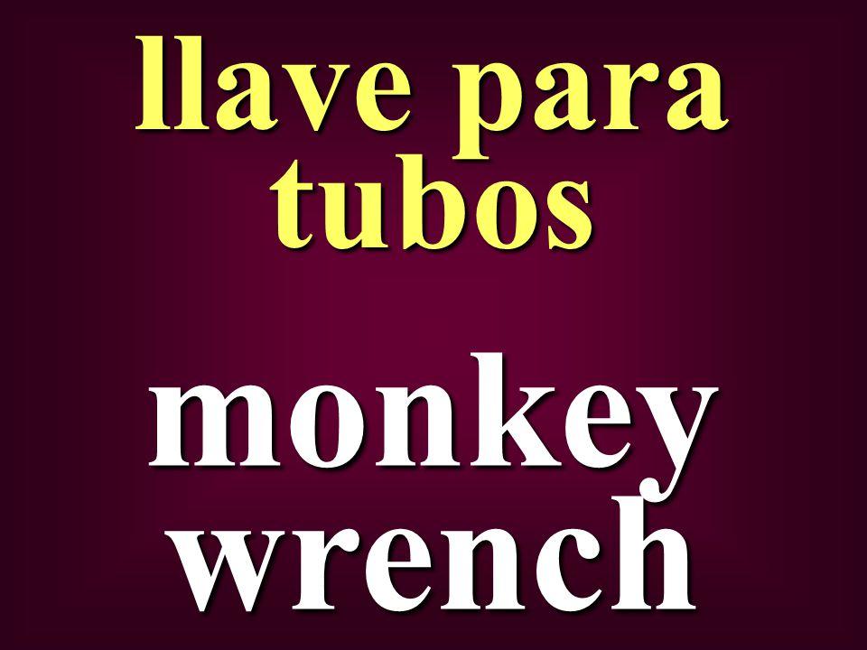 monkey wrench llave para tubos