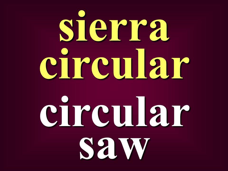circular saw sierra circular