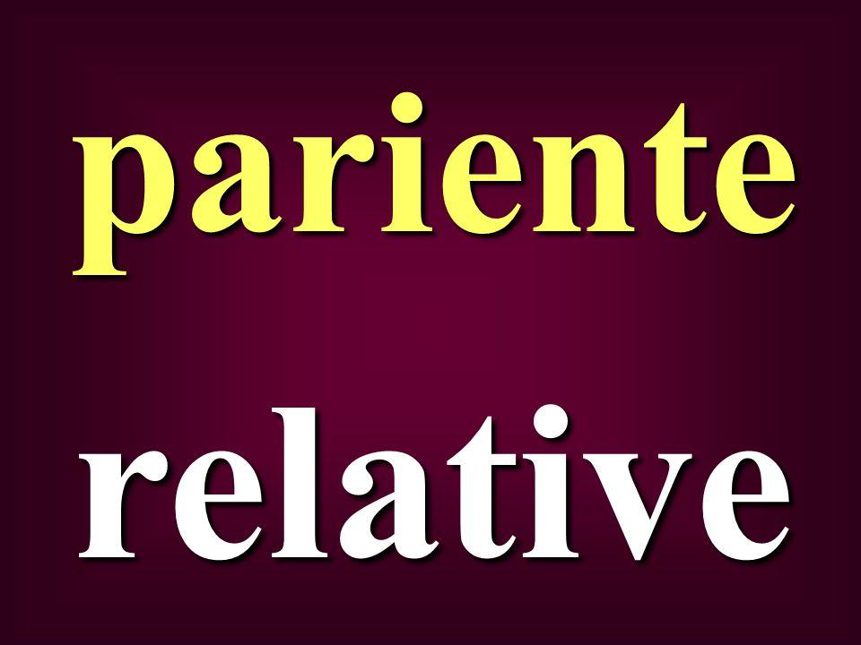 relative pariente