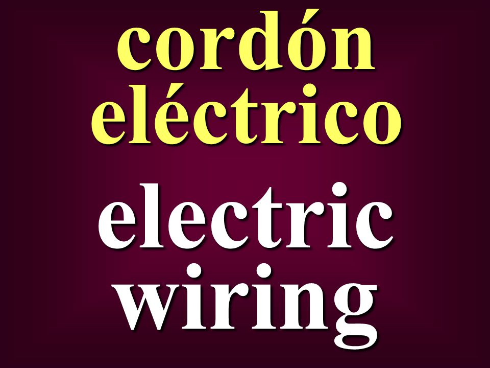 electric wiring cordón eléctrico