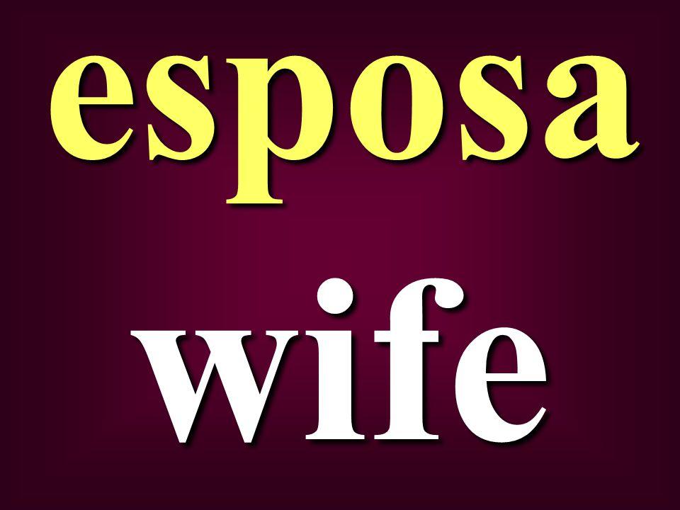 wife esposa