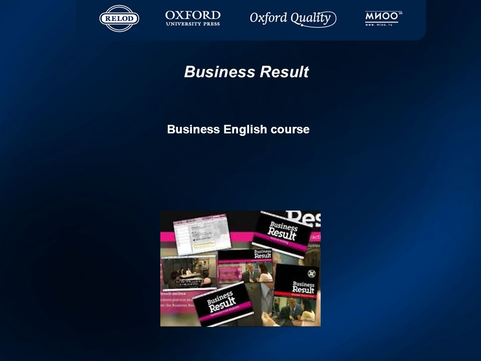Business English course Business Result