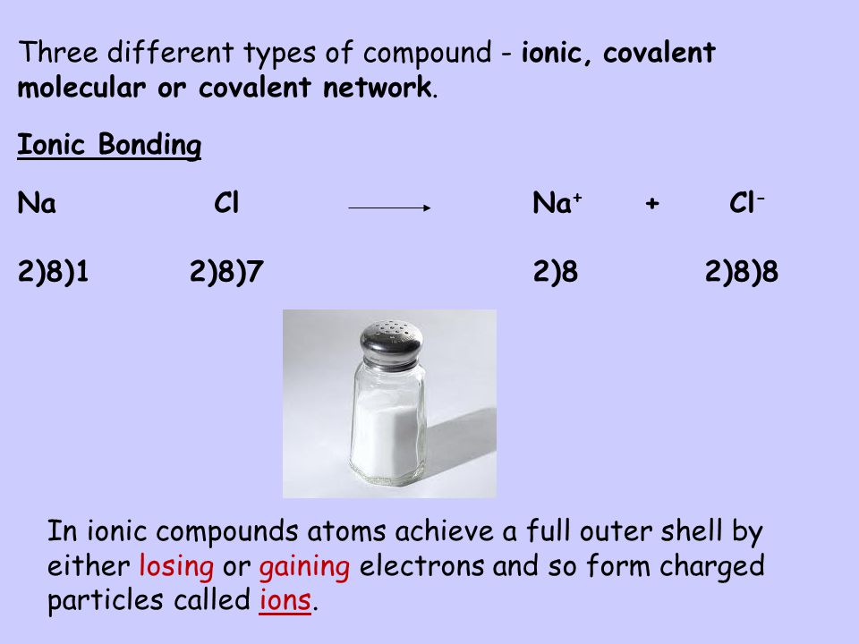 L.I. To learn about bonding in compounds (a) S.C. By the end of this lesson you should be able to describe the bonding and structure in ionic compound