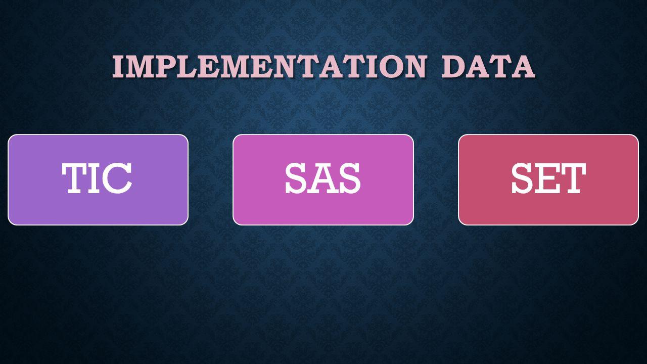 IMPLEMENTATION DATA TICSASSET