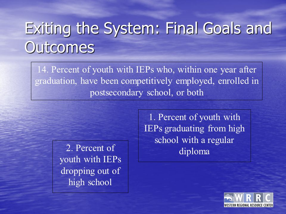 Exiting the System: Final Goals and Outcomes 2.