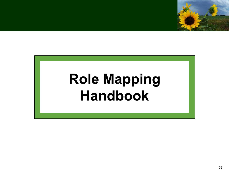 32 Role Mapping Handbook