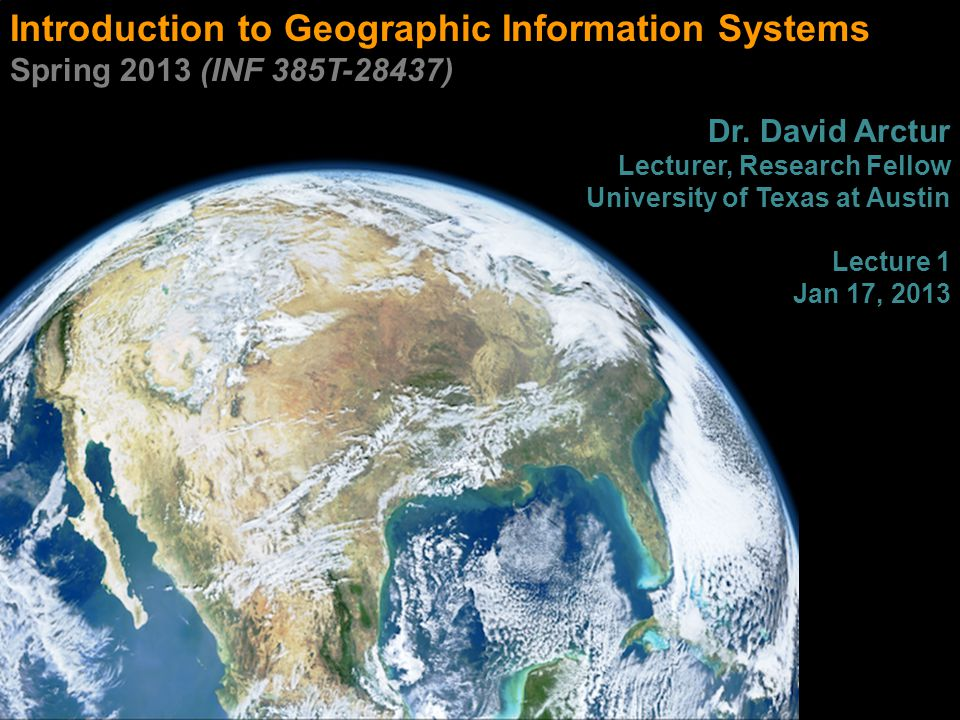 Advanced GIS functions Proximity selections 32 INF385T(28437) – Spring 2013 – Lecture 1