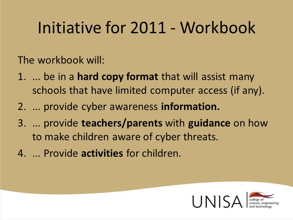Workbook (1) Plan of action: Design Cyber Awareness image .