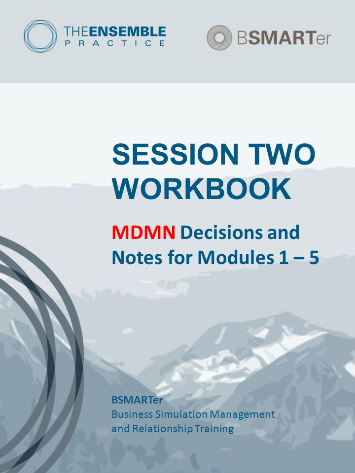SESSION TWO WORKBOOK MDMN Decisions and Notes for Modules 1 – 5 BSMARTer Business Simulation Management and Relationship Training