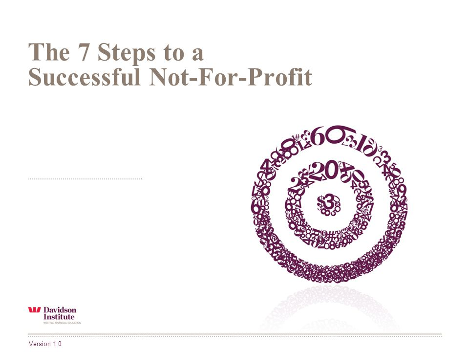 The 7 Steps to a Successful Not-For-Profit Version 1.0