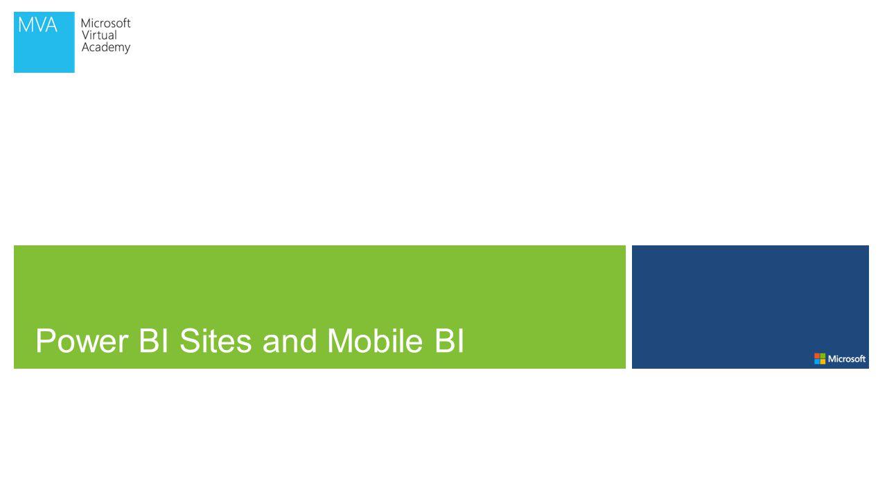 Power BI Sites and Mobile BI