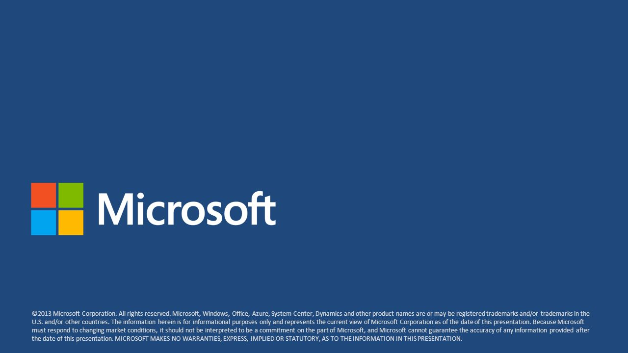 ©2013 Microsoft Corporation.All rights reserved.