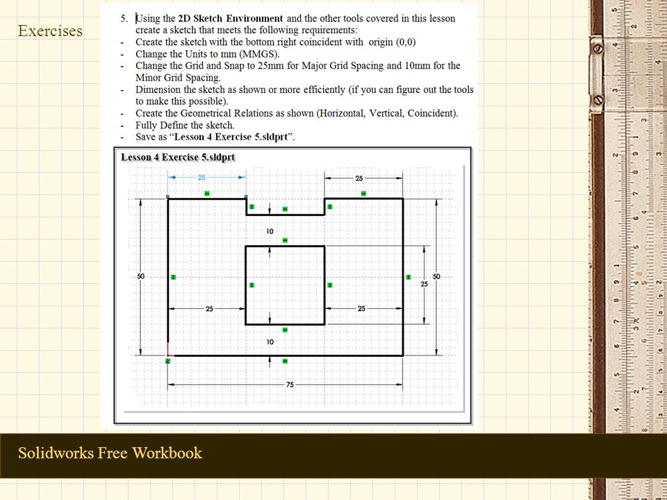 Solidworks Free Workbook Exercises