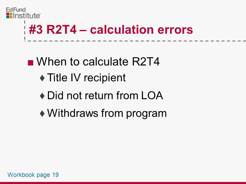 #3 R2T4 Calculation Errors Workbook page 19
