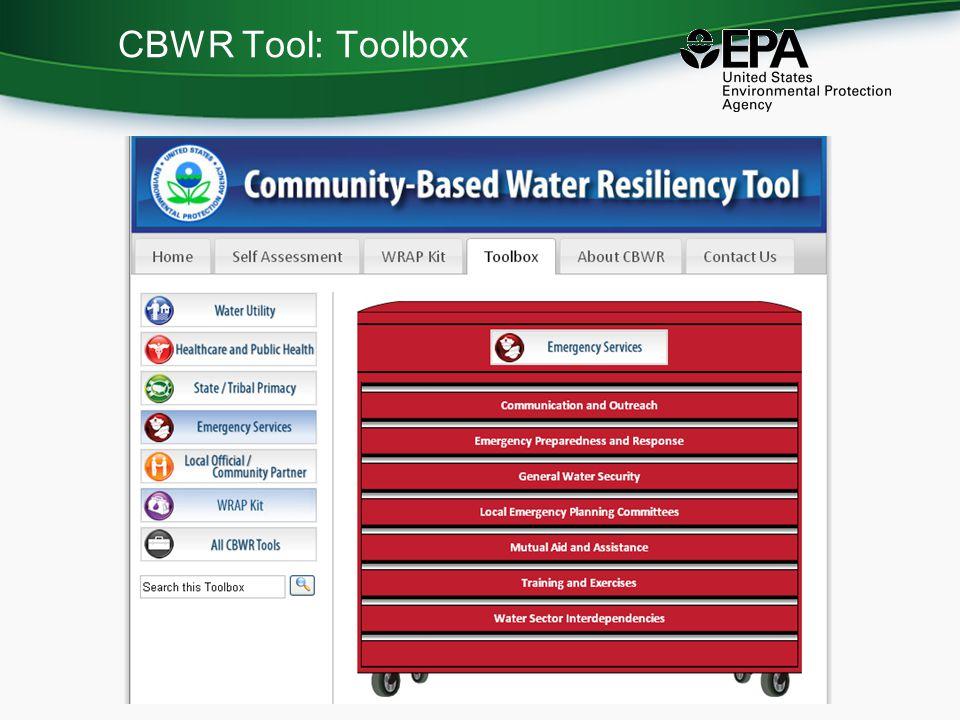CBWR Tool: Toolbox