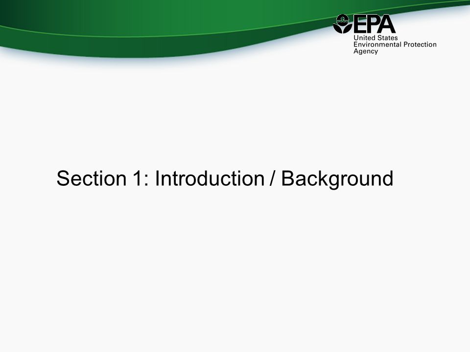 Section 1: Introduction / Background