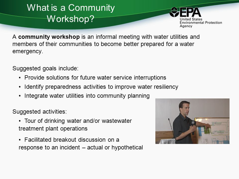 What is a Community Workshop.