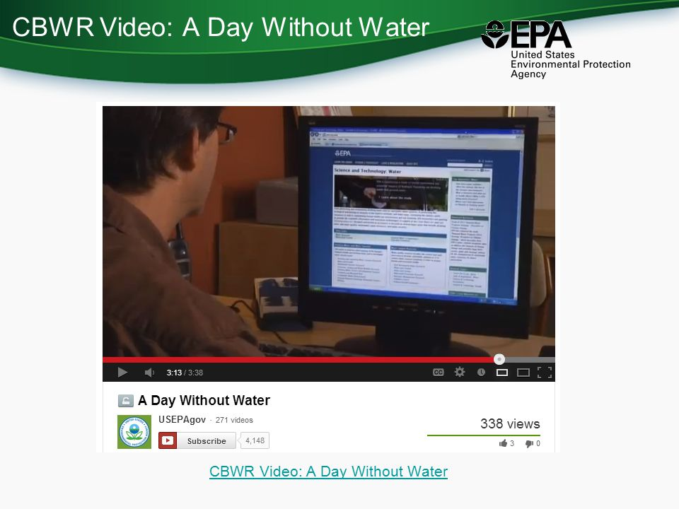 CBWR Video: A Day Without Water