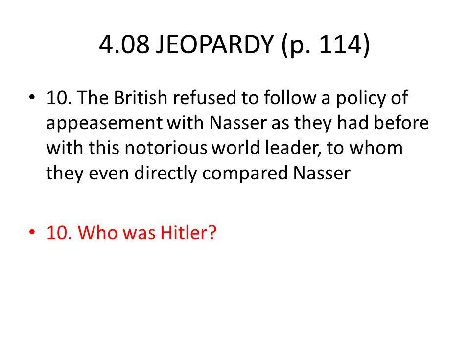 4.08 JEOPARDY (p. 114) 10.