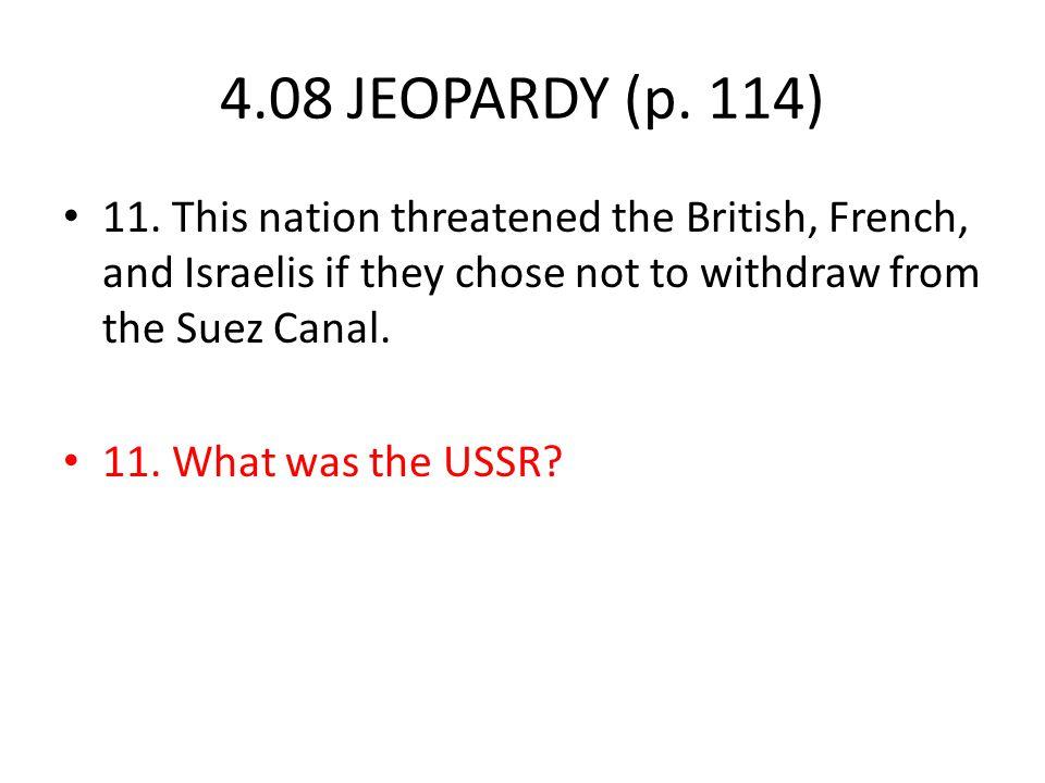 4.08 JEOPARDY (p. 114) 11.